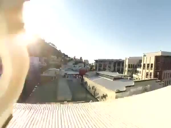 Post Drone Smashes Through 5th Floor Window
