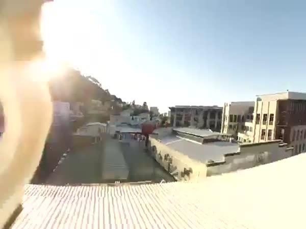 Post Drone Smashes Through 5th Floor Window