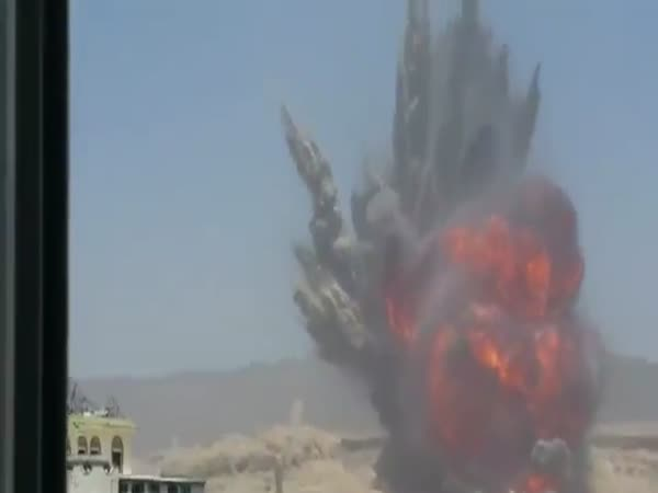 Massive Airstrike Causes A Giant Shockwave