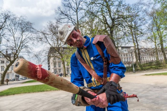 Zombies Creep Through The Streets Of Brussels (28 pics)
