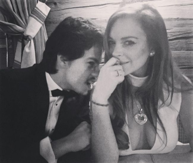 Lindsay Lohan's Boyfriend Popped The Question And Now She's Engaged (6 pics)