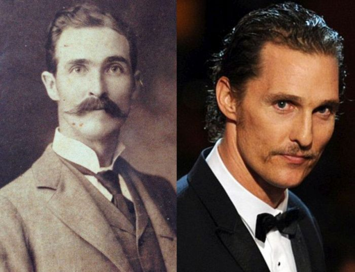 Man Discovers That His Great-Great-Grandfather Looked Eerily Similar To Matthew McConaughey (2 pics)