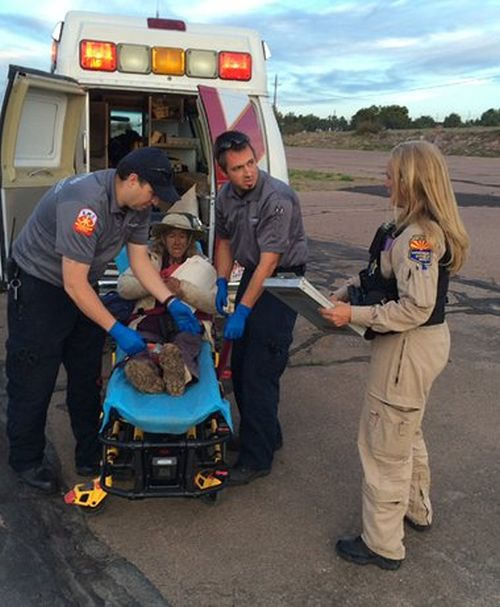 Grandmother And Dog Get Rescued After Spending 9 Days In The Arizona Desert (3 pics)