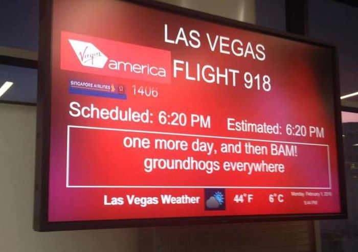 Virgin America Employees Get To Have A Lot Of Fun With Their Departure Signs (19 pics)