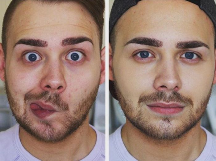 Men Wearing Makeup Is The Newest Trend On Instagram (16 pics)