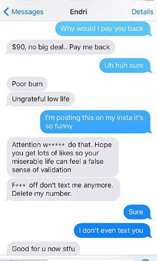 Guy Freaks Out On His Tinder Date Because She Refused To Hook Up With Him (4 pics)