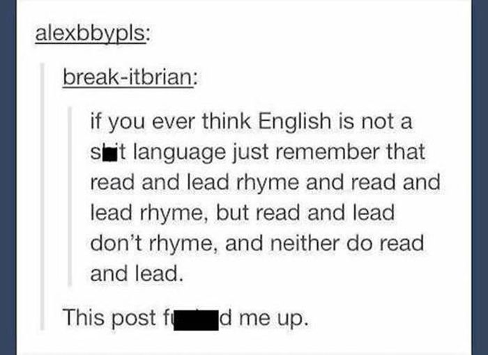 Problems With The English Language That Will Hurt Your Brain (20 pics)