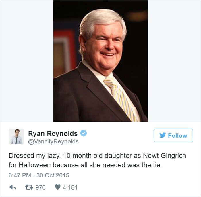 Ryan Reynolds' Twitter Page Is Filled With Hilarious Tweets About His Daughter (11 pics)