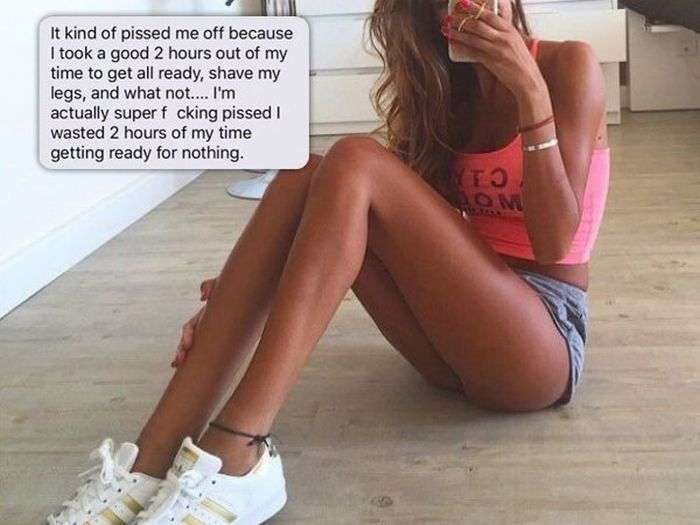 Girl Freaks Out On Guy Because She Shaved Her Legs And He Didn't Put Out (3 pics)