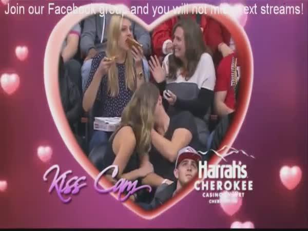 Pizza Girl On The Kisscam
