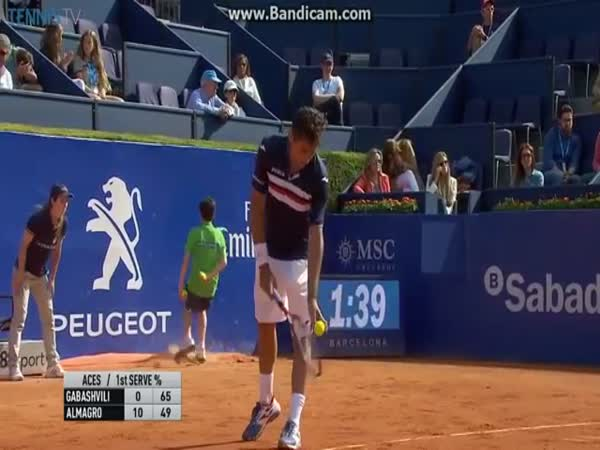 Tough Day At The Office For Ball Boy At ATP Barcelona