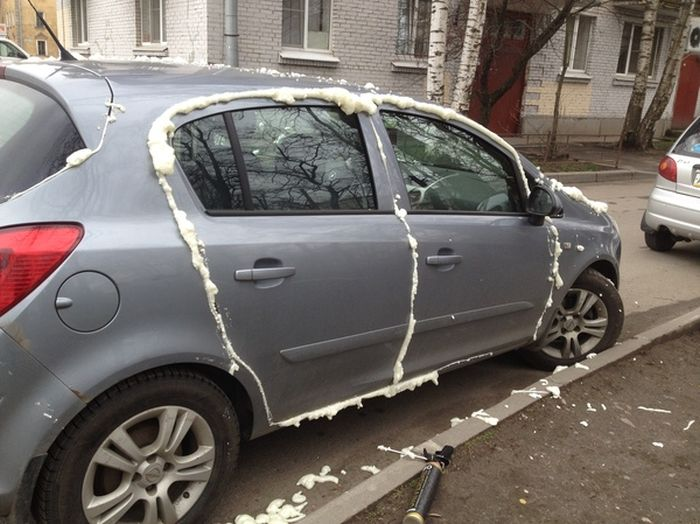 This Person Won't Be Opening Their Car Anytime Soon (5 pics)