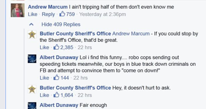 Facebook Tough Guy Isn't So Tough When He Meets The Police (5 pics)