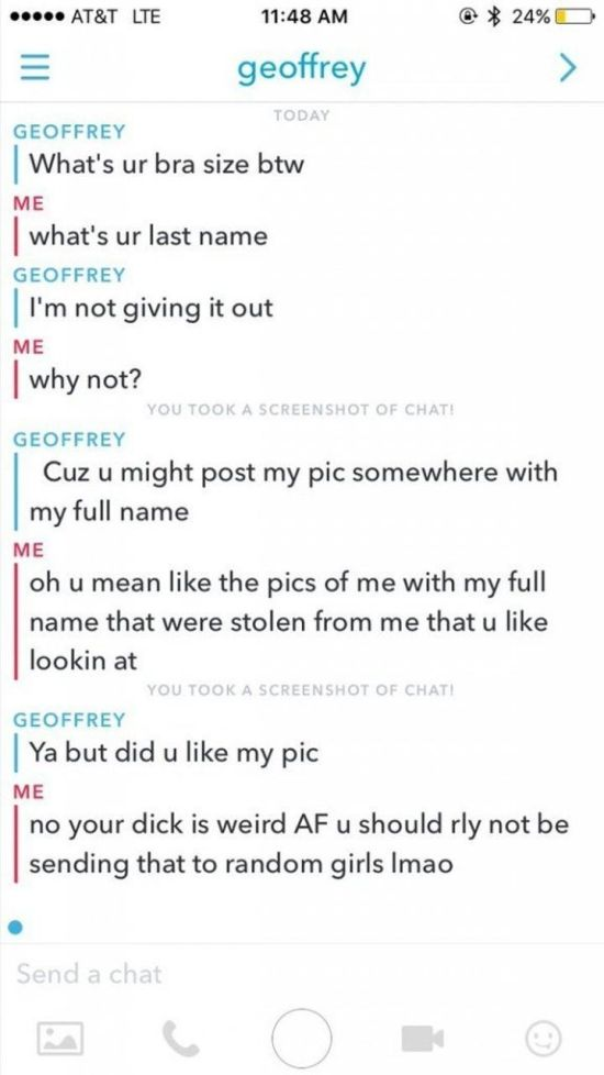 Guy Finds Out The Hard Way That Sending Unsolicited Nude Pics Is A Bad Idea (6 pics)