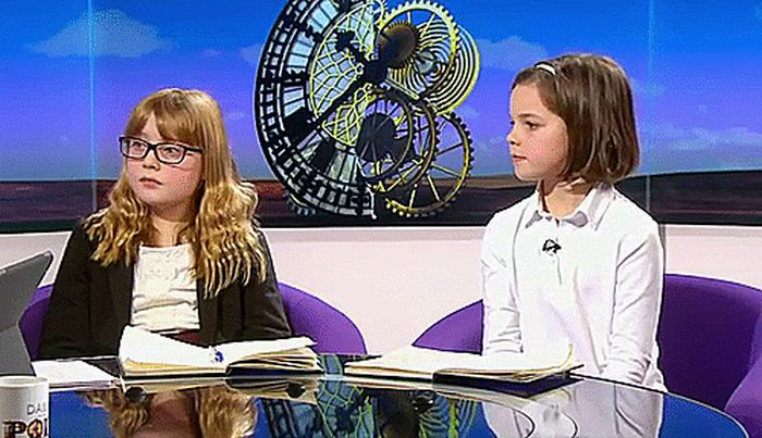 Little Girl Schools A British Reporter On Live TV (10 gifs)