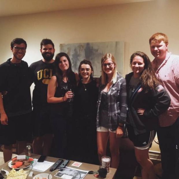 Maisie Williams Surprised Some Fans By Crashing A Game Of Thrones Viewing Party (14 pics)