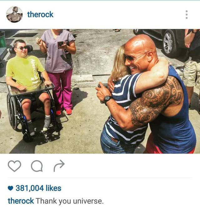 The Rock Continues To Prove He's Awesome By Making Time For His Fans (3 pics)