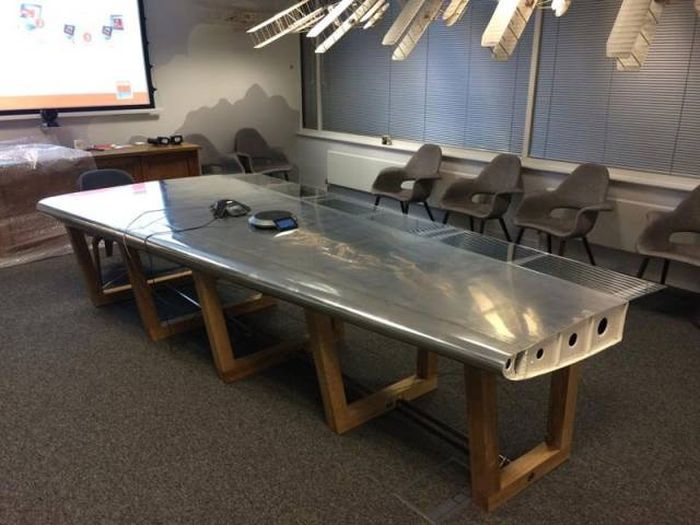 A Company Is Turning Old Airplane Parts Into Awesome Furniture (13 pics)