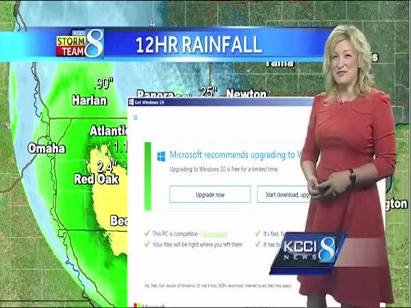 Microsoft Windows 10 Update Interrupts Weather Forecast