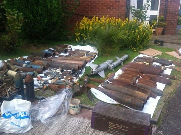 War Veteran Gets Locked Up For Two Years After Police Find His Weapons Stash (8 pics)