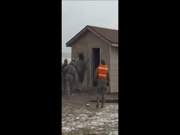 Military Training Building Entry Fail