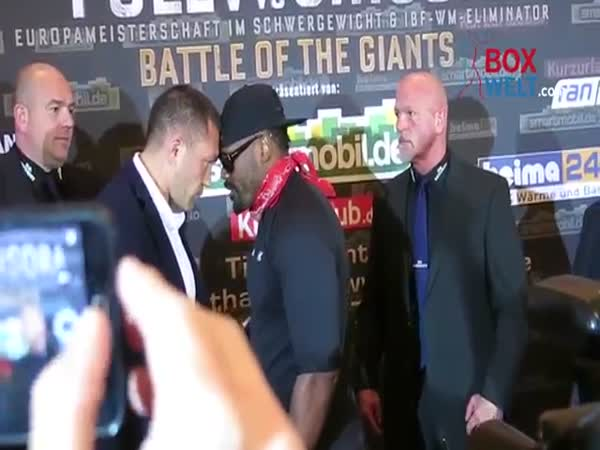 Dereck Chisora Attacks Kubrat Pulev During Face Off At Pre Fight Press Conference