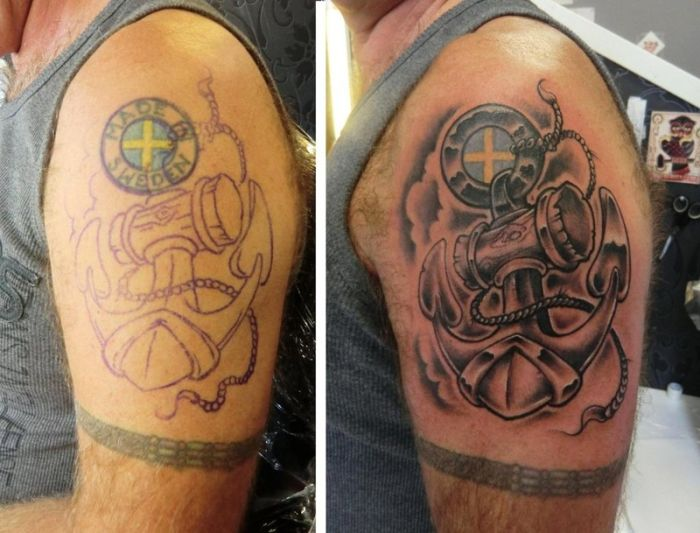 Tattoo Cover Ups That Took Tattoos From Awful To Epic (33 pics)