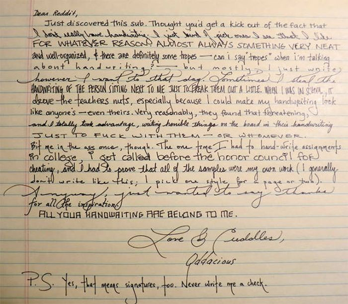 Awesome And Amazing Handwriting Skills That Will Impress ...