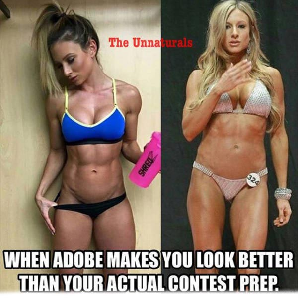 Fans Are Ripping On Fitness Model Paige Hathaway For Using Photoshop (11 pics)
