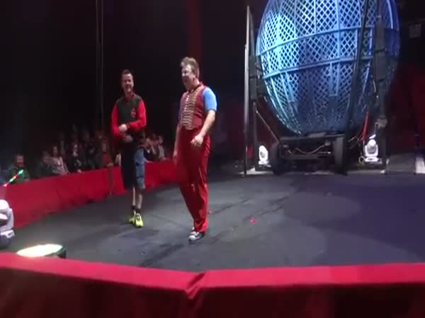 Clown Almost Kills A Man. Circus Accident
