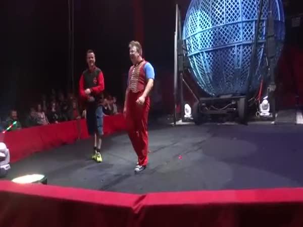 Clown Almost Kills A Man. Circus Accident