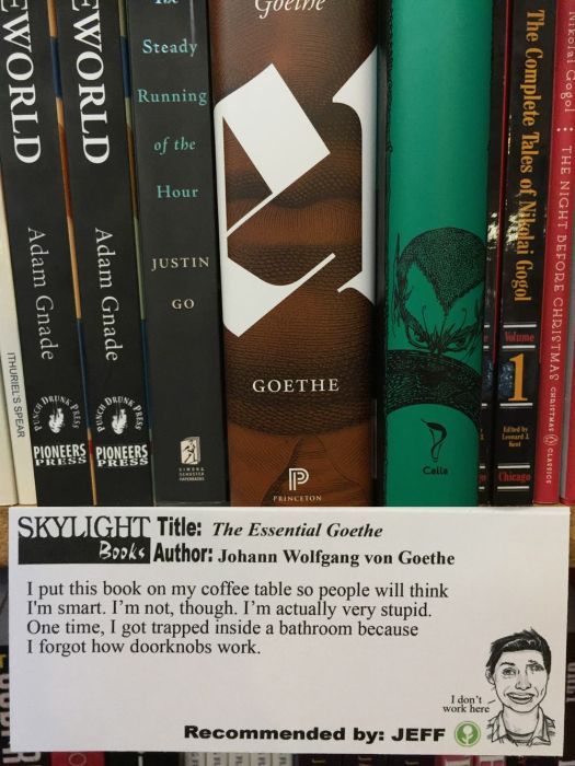 A Guy Named Jeff Is Recommending Books At His Local Bookstore (11 pics)
