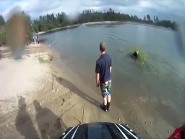 Snowmobile Lake Fail