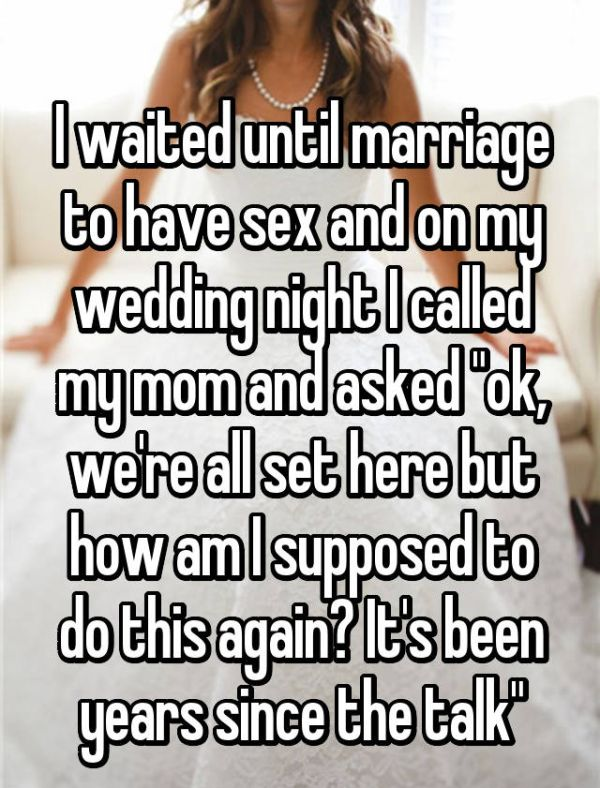Brides Share Their Stories About What Went Down On Their Wedding Night (19 pics)