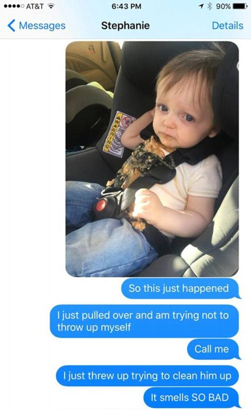 Everything Went Horribly Wrong When This Dad's Toddler Puked (2 pics)