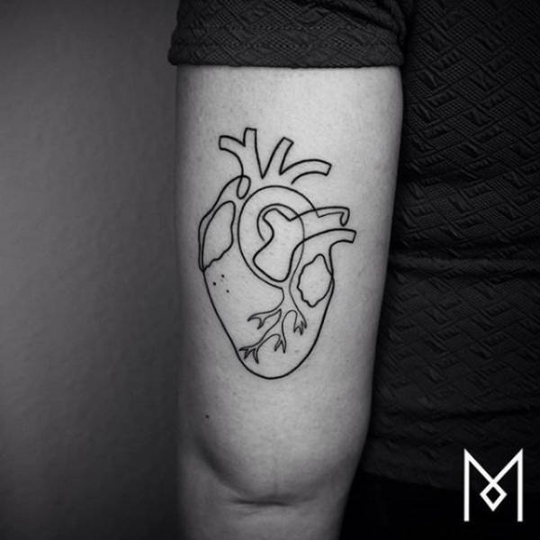 Incredible Tattoos That Were Created Using A Single Continuous Line (26 pics)