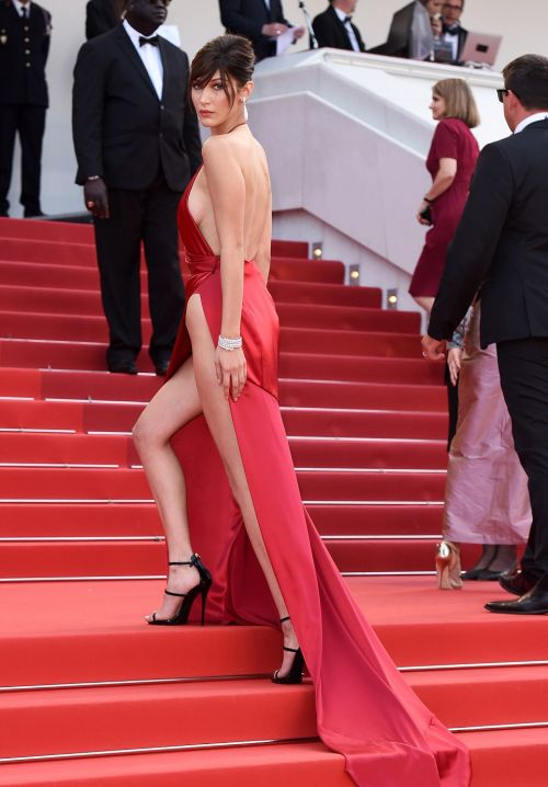 Bella Hadid Stole The Show With Her Red Dress At The Cannes Film Festival (7 pics)