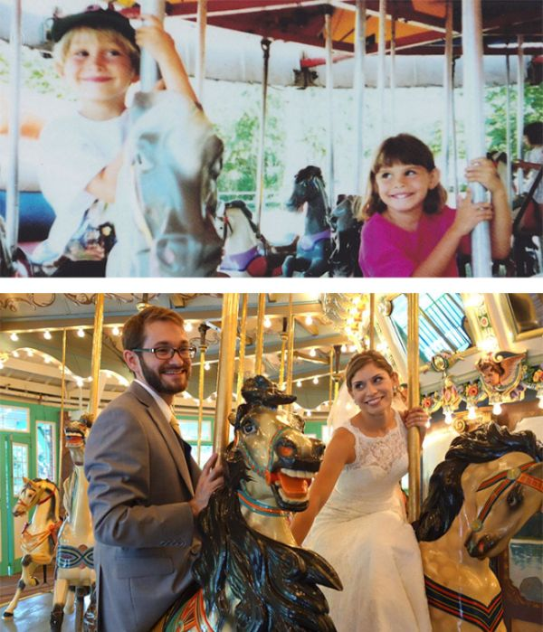 Couples Prove That True Love Is Real By Recreating Old Photos (25 pics)