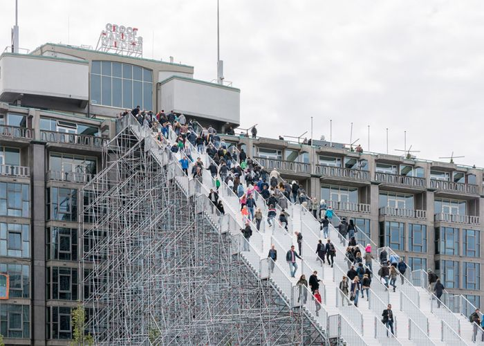 Gigantic Scaffold Staircase In Rotterdam Now Open For A Limited Time (6 pics)