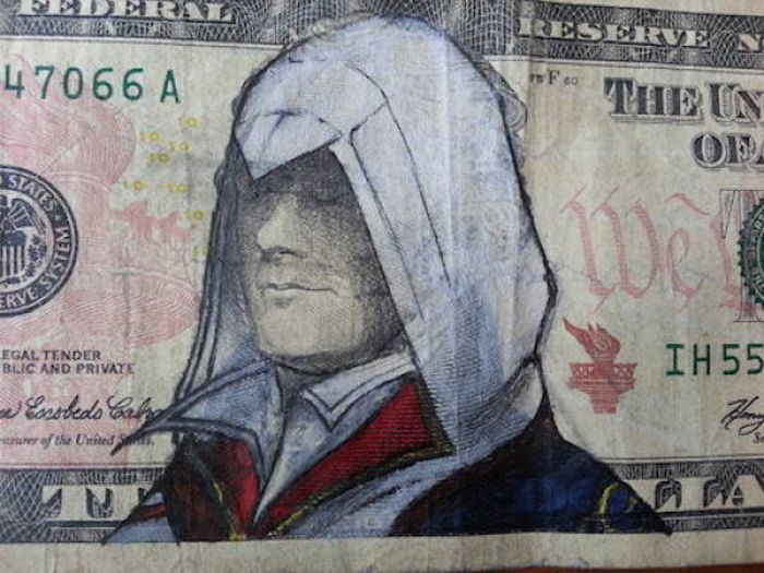 Dollar Bills That Were Transformed Into Artistic Masterpieces (21 pics)