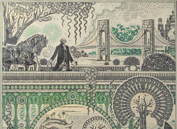 Dollar Bills That Were Transformed Into Artistic Masterpieces (21 pics)