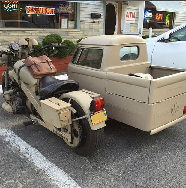 Cool Motorcycle With An Awesome Custom Sidecar (3 pics)