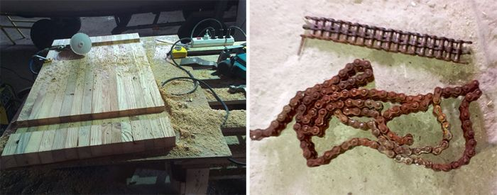 Creative Guy Uses Old Rusty Chain For Something Awesome (10 pics)