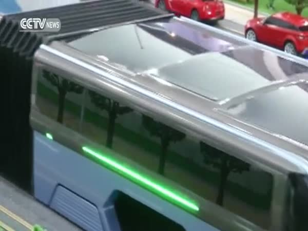 Elevated Bus Debuts At Beijing International High Tech Expo