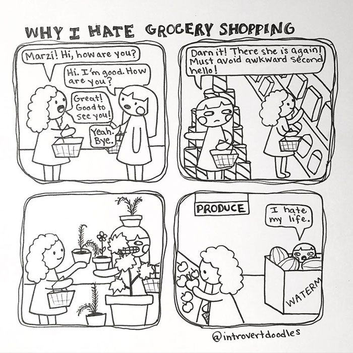 Fun Comics That Will Make Perfect Sense To All The Introverts Out There (35 pics)