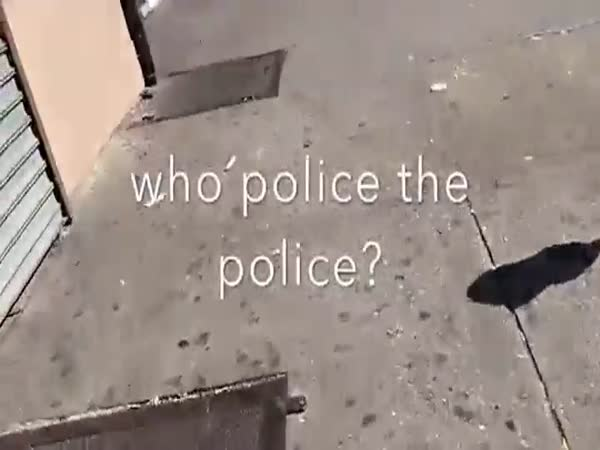 Citizen Forces Cop To Pick Up His Litter