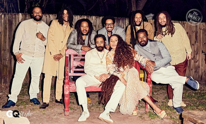 Bob Marley's Family Got Together For Their First Photoshoot In A Decade (2 pics)