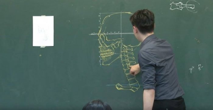 Chinese Teacher Has Some Serious Chalk Skills (7 pics)