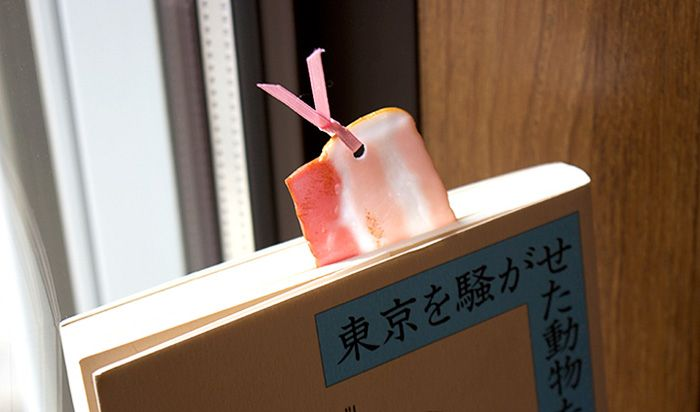 Put A Piece Of Bacon In Your Book With Realistic Food Bookmarks From Japan (8 pics)