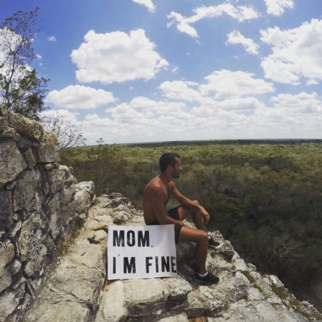 An Instagram User Is Traveling The World And Telling His Mom He's Fine (13 pics)